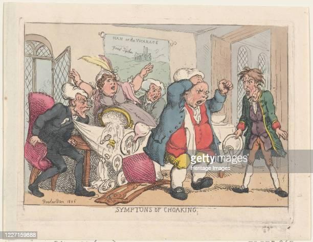 Symptoms of Choaking 1806 Artist Thomas Rowlandson