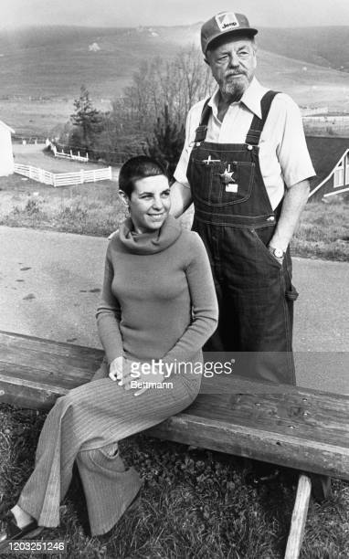 Synanon leader Chuck Dedrich stands by his new wife Ginny at Synanon branch in Marshall California during a recent visit there Dedrich performed some...