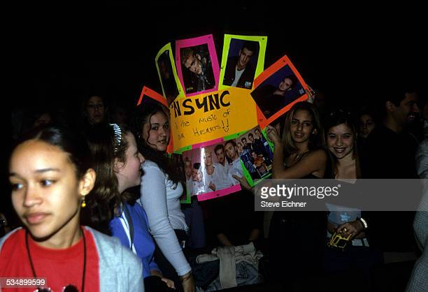 N'Sync fans at World Aids Day Benefit Beacon Theater New York December 1999