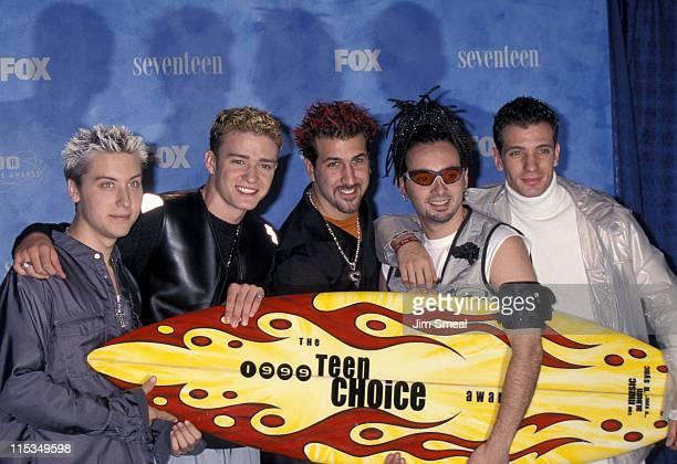 N'Sync Justin Timberlake Lance Bass Joey Fatone Chris Kirkpatrick and JC Chasez
