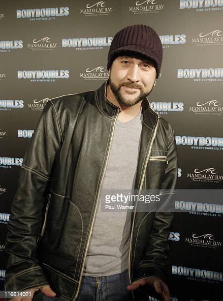 N'Sync member Joey Fatone on the red carpet at the Body Doubles International Twin Search