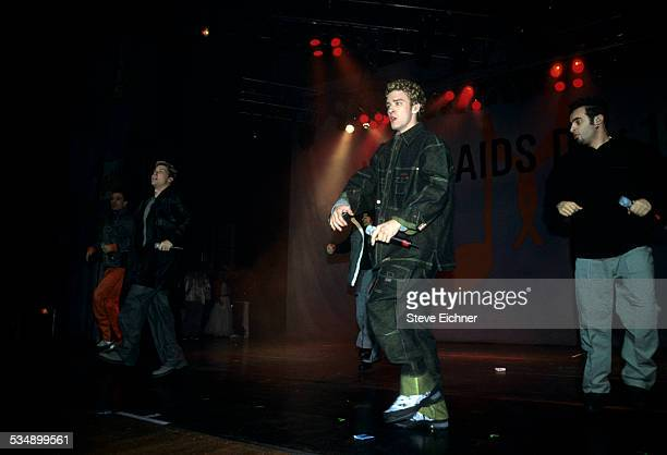 N'Sync performs at World Aids Day Benefit Beacon Theater New York December 1999