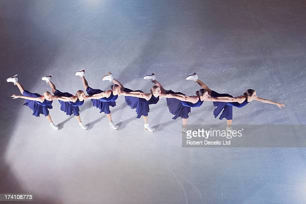 Synchro Skating team performing routine.
