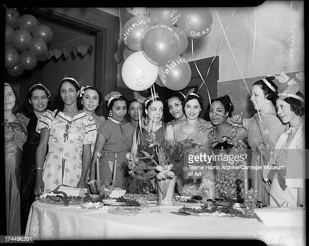 Synchronettes Club members including Geraldine Henry Ethel Harris Catherine Watkins Ruth King Addie Garvin Winnie Nickens Winnie Houston Stina Mae...