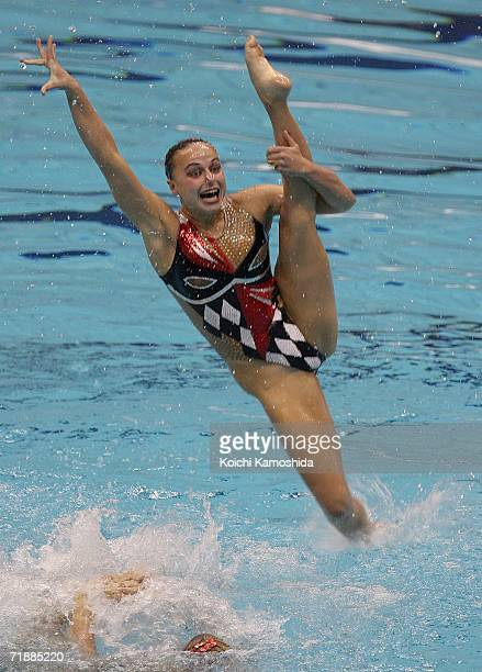 Synchronised swimmers of Russia perform during the Free Combination Final at FINA Synchronised Swimming World Cup on September 14 2006 in Yokohama...