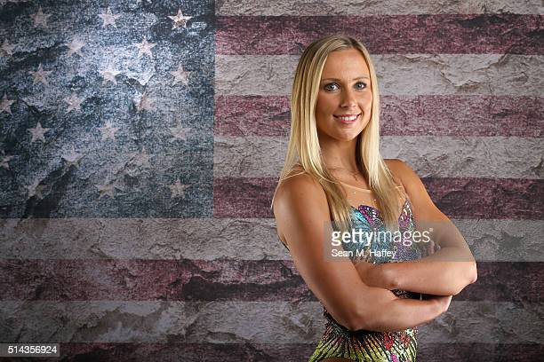 Synchronized swimmer Mariya Koroleva poses for a portrait at the 2016 Team USA Media Summit at The Beverly Hilton Hotel on March 8 2016 in Beverly...