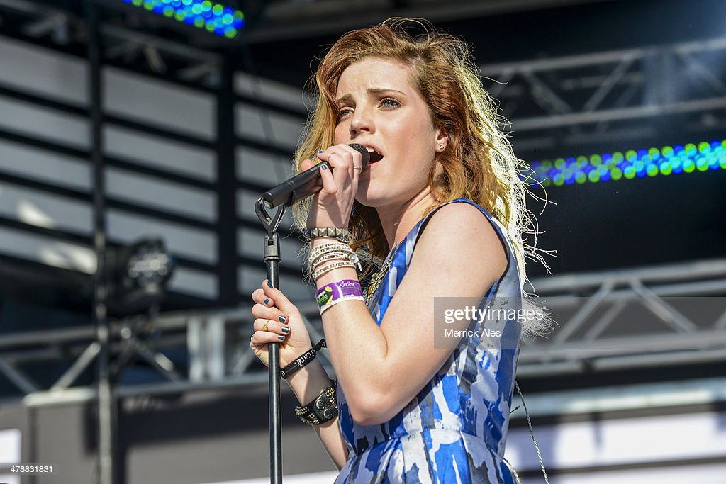 Syndey Sierota of Echosmith performs at the 2014 mtvU Woodie Awards on March 13, 2014 in Austin, Texas.