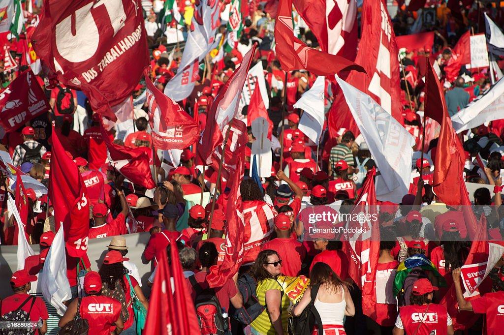Sindicalistas Ato : Foto de stock