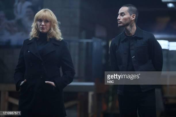 "Synergy"" Episode 311 -- Pictured: Christina Hendricks as Beth Boland, Manny Montana as Rio --"