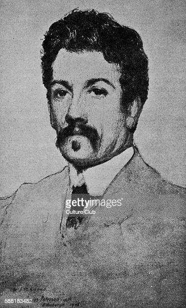 Synge drawing by James Paterson. Irish playwright, poet, prose writer, and collector of folklore, 16 April 1871 - 24 March 1909.