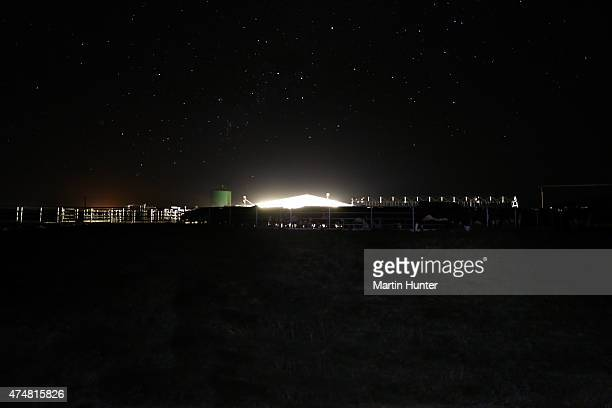 Synlait dairy farm operates in the darkness of night on May 25 2015 in Christchurch New Zealand New Zealandbased dairy producer Synlait has...