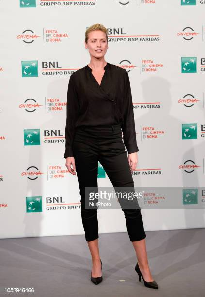 Synnove Macody Lund attend the 'The Girl in the Spider's Web' photocall during the 13th Rome Film Fest at Auditorium Parco Della Musica on October 24...