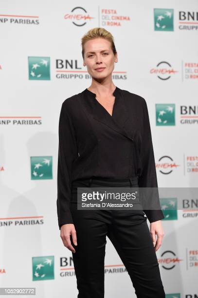 Synnove Macody Lund attends 'The Girl In The Spider's Web' photocall during the 13th Rome Film Fest at Auditorium Parco Della Musica on October 24...