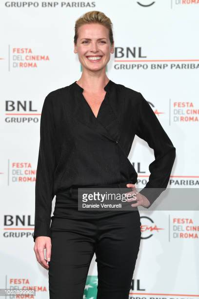 Synnove Macody Lund attends the 'The Girl In The Spider's Web' photocall during the 13th Rome Film Fest at Auditorium Parco Della Musica on October...