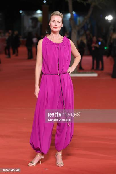 Synnove Macody Lund walks the red carpet ahead of the 'The Girl In The Spider's Web' screening during the 13th Rome Film Fest at Auditorium Parco...