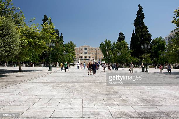 シンタグマ広場、アテネ,ギリシャ正午の夏 - シンタグマ広場 ストックフォトと画像