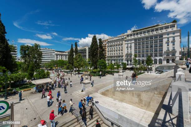 syntagma square, athens,greece - シンタグマ広場 ストックフォトと画像