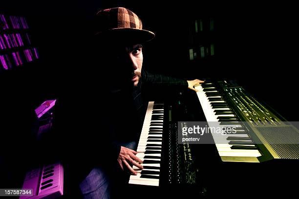 synthesizer man - producer stock pictures, royalty-free photos & images