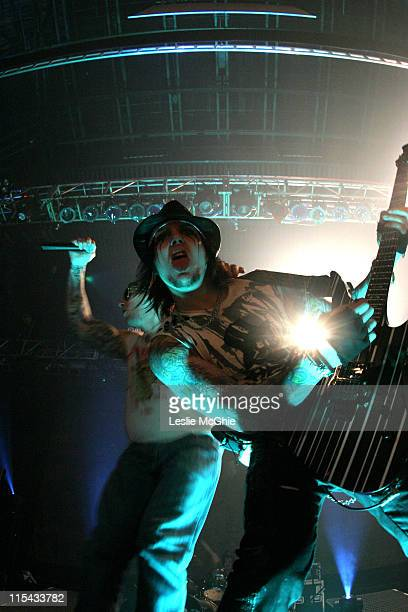 Synyster Gates during Avenged Sevenfold in Concert at the Astoria March 10 2006 at Astoria in London Great Britain