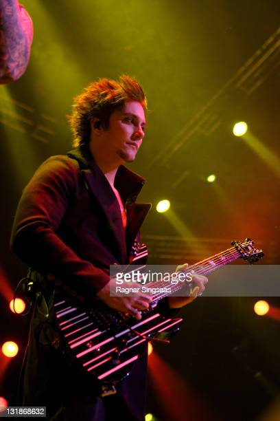Synyster Gates of Avenged Sevenfold performs at Oslo Spektrum on November 24 2010 in Oslo Norway