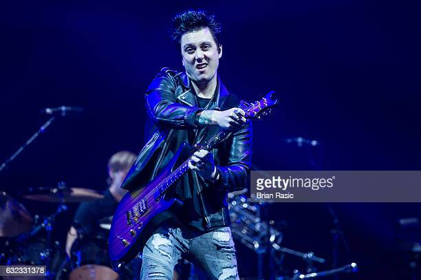 Synyster Gates of Avenged Sevenfold Performs At The O2 Arena on January 21 2017 in London United Kingdom