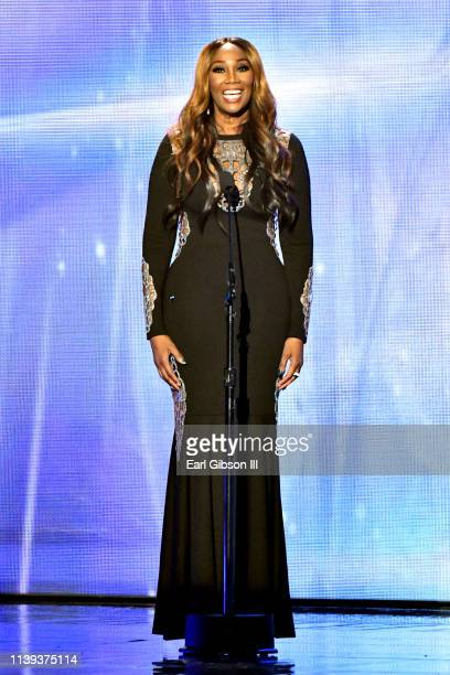 sYolanda Adams speaks during the 34th annual Stellar Gospel Music Awards at the Orleans Arena on March 29 2019 in Las Vegas Nevada