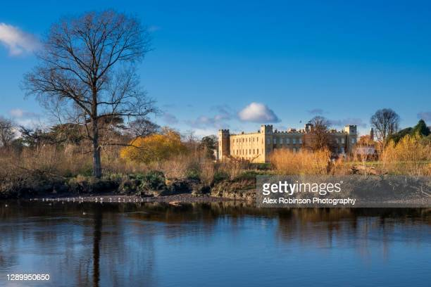 syon house, ancestral home of the dukes of northumberland in syon park, london - royalty stock pictures, royalty-free photos & images