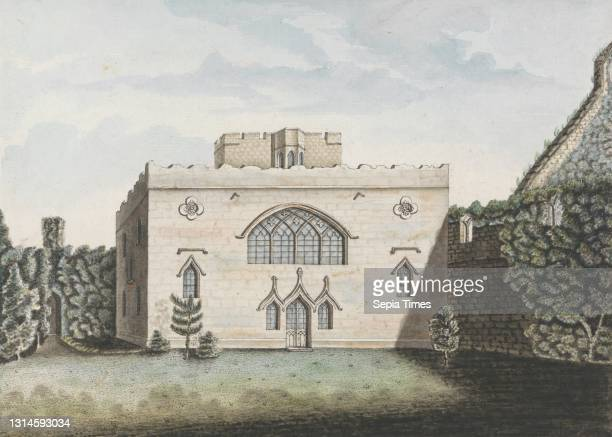 Chapel, William Beilby, 1740–1819, British, undated, Watercolor and pen and black ink on meidum, slightly textured, white laid paper, Sheet: 8 1/4 x...