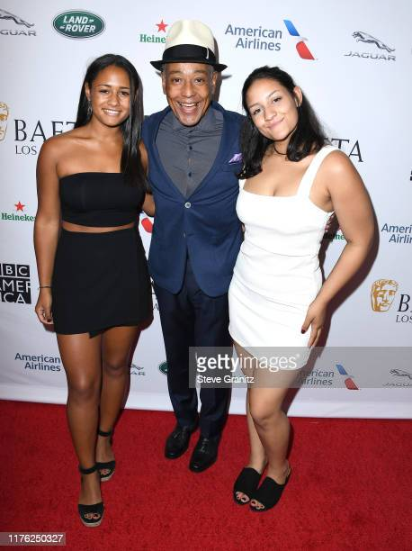 Syr Esposito Giancarlo Esposito and Ruby Esposito arrive at the BAFTA Los Angeles BBC America TV Tea Party 2019 at The Beverly Hilton Hotel on...