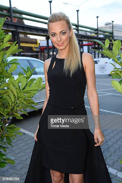 Syra Feiser attends the Unique show during Platform Fashion July 2016 at Areal Boehler on July 23 2016 in Duesseldorf Germany
