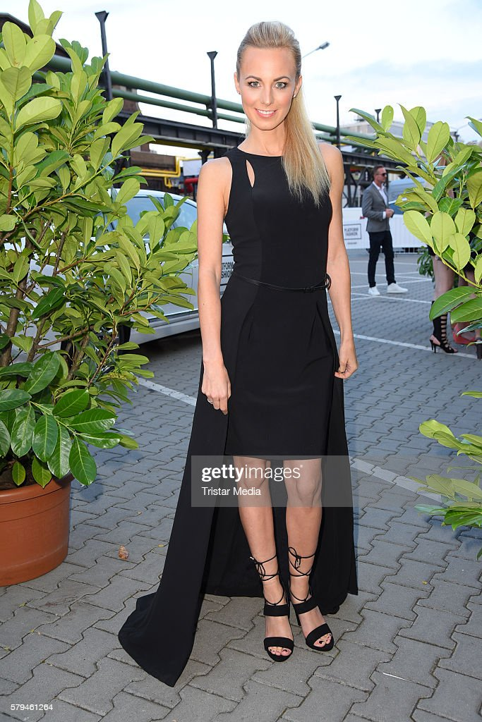 Syra Feiser attends the Unique show during Platform Fashion July 2016 at Areal Boehler on July 23, 2016 in Duesseldorf, Germany.