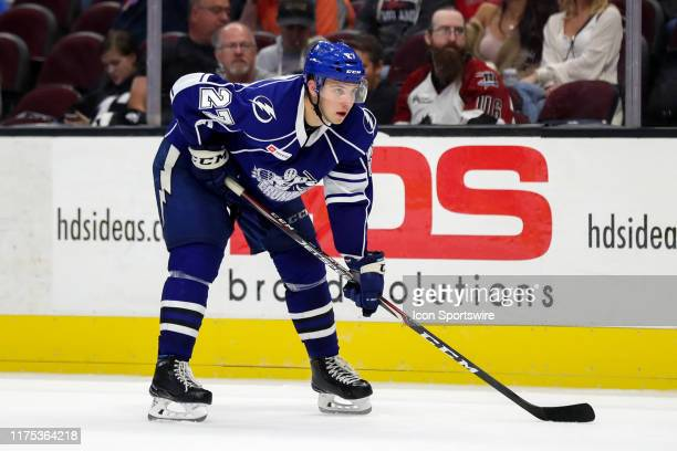 Syracuse Crunch defenceman Dominik Masin on the ice during the third period of the American Hockey League game between the Syracuse Crunch and...