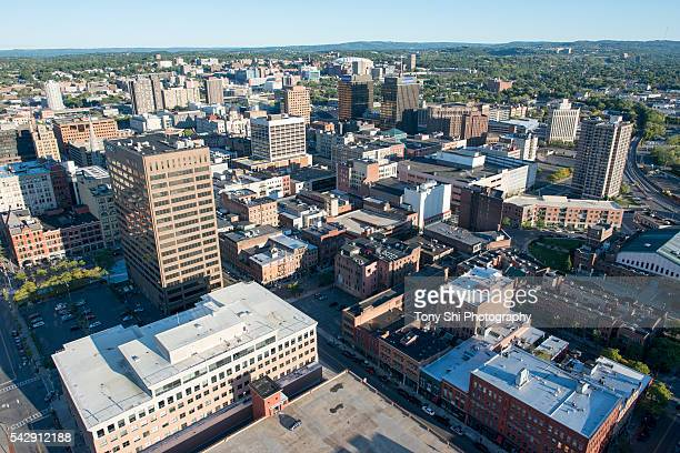 syracuse - downtown - aerial - syracuse new york stock pictures, royalty-free photos & images