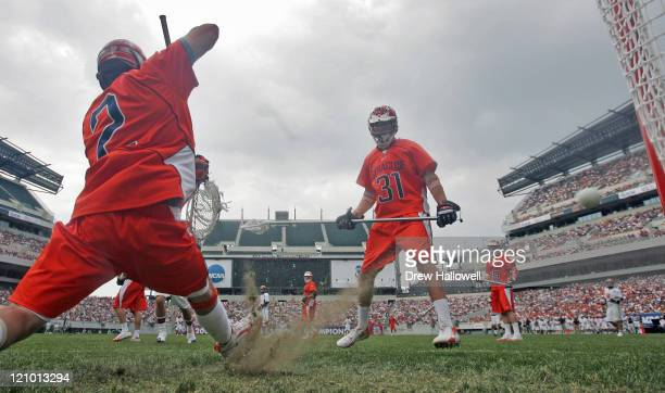 Syracuse goalie Jake Myers can't make the save in the Division I Lacrosse Semi-Finals Saturday, May 27, 2006 at Lincoln Financial Field in...