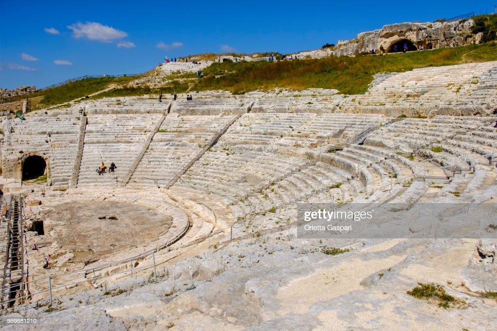 Syracuse, Greek Theatre - Sicily, Italy : Stock Photo