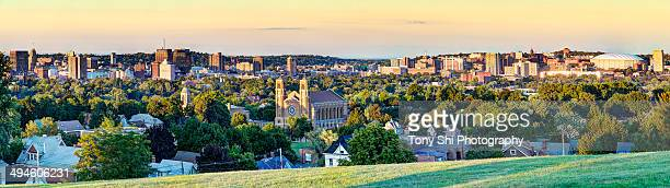 syracuse, ny panorama - syracuse new york stock pictures, royalty-free photos & images