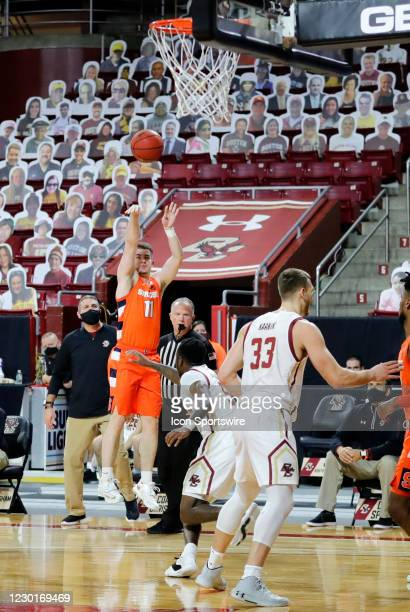 Syracuse Orange guard Joseph Girard III tosses up a three during a game between the Boston College Eagles and the Syracuse Orange on December 12 at...