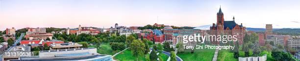 syracuse university panorama, campus. syracuse, new york - syracuse new york stock pictures, royalty-free photos & images