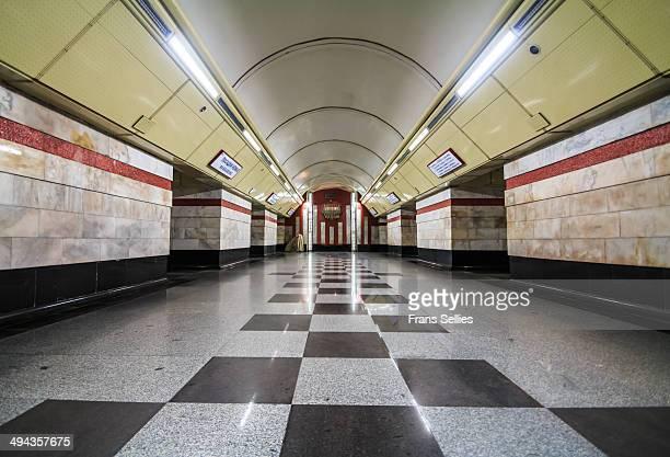 syrets metro station, kiev - frans sellies stockfoto's en -beelden