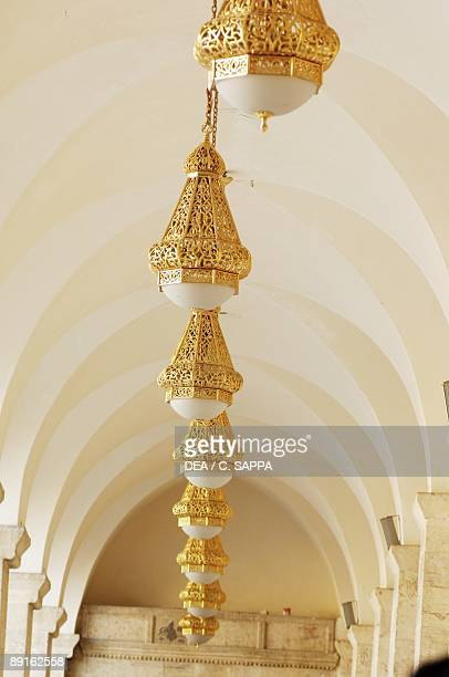 Syria Aleppo Historical Aleppo UNESCO World Heritage List 1986 Umayyad Great Mosque 11th century Ritual lamps