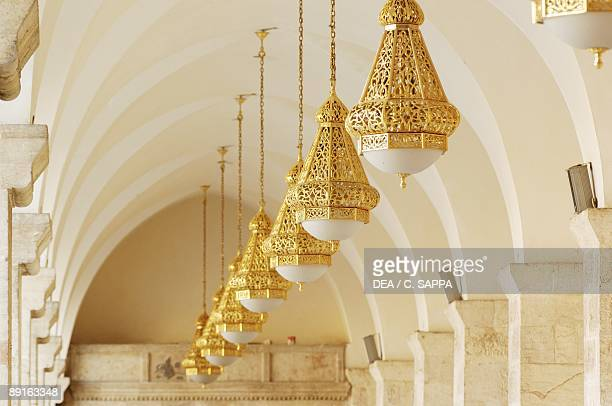 Syria Aleppo Historical Aleppo UNESCO World Heritage List 1986 Umayyad Great Mosque 11th century Ritual lamps of porch