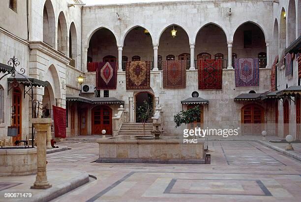 Syria Aleppo Khan Al Nahasin caravanserai of Khan Al Nahasin Photo before the Syrian civil war