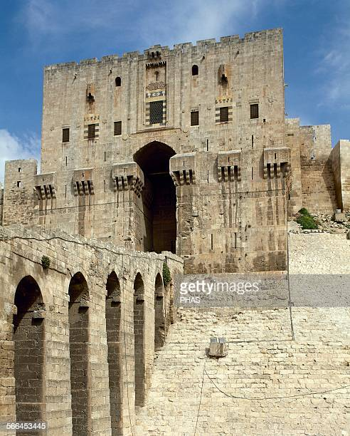 Syria Aleppo The Citadel Medieval fortified palace in the centre of the old city The majority of the construction as it stands today is thought to...