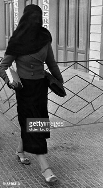 Syria Aleppo Young student with a yashmak wearing European clothes Photographer Alfred Eisenstaedt Published by 'Berliner Illustrirte Zeitung'...