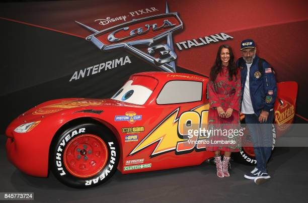 Syria and Pier Paolo Peroni attend Cars 3 photocall in Milan on September 11 2017 in Milan Italy