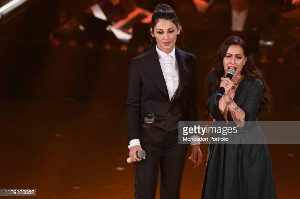 Syria Anna Tatangelo at the fourth evening of the 69th Sanremo Music Festival Sanremo February 8th 2019
