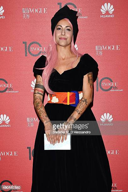 Syria attends Vogue China 10th Anniversary at Palazzo Reale on September 28 2015 in Milan Italy