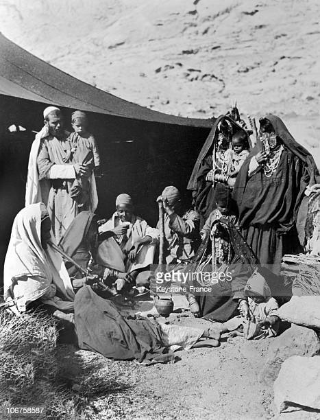 Syria Bedouin Family In The 1930'S