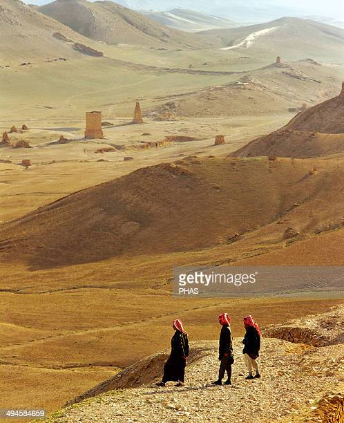 Syria Bedouins Oasis of Tadmor Near Palmyra
