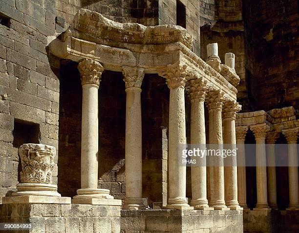 Syria Bosra Roman Theatre Porticus post scaenam Detail